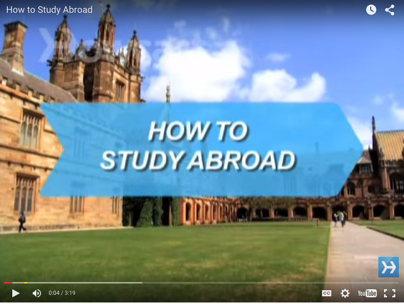 How to study abroad Video