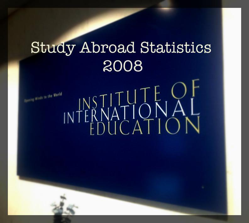Study Abroad Statistics 2008