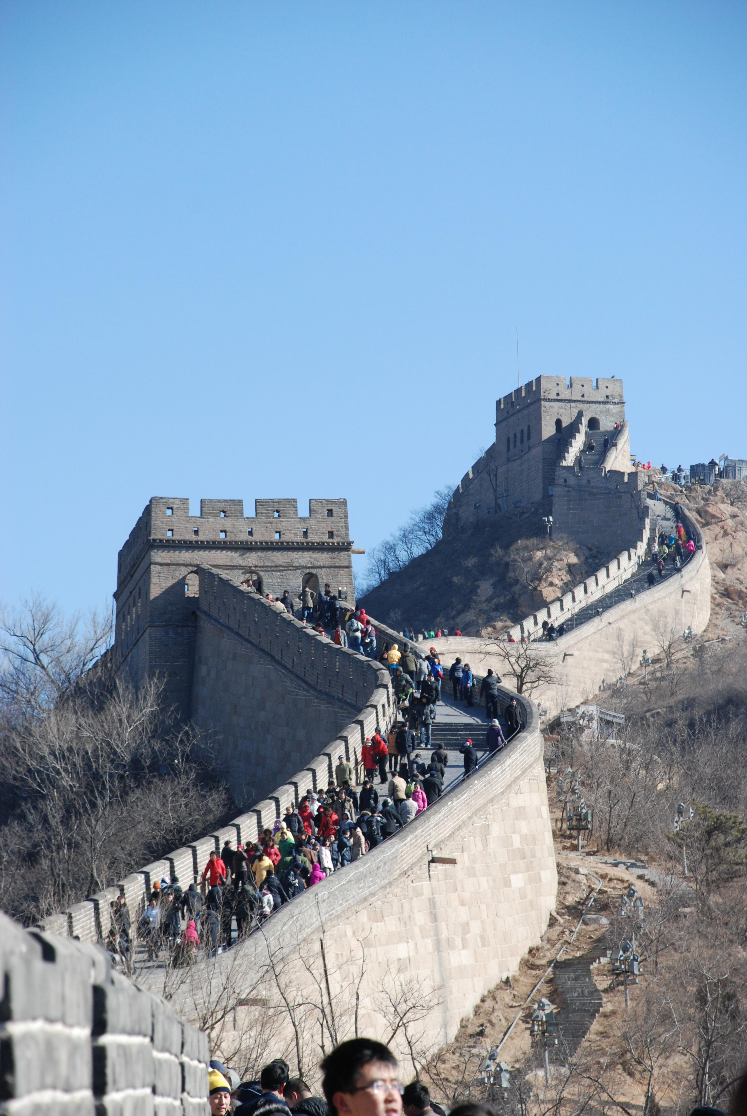 The Great Wall of China - look at all the people!