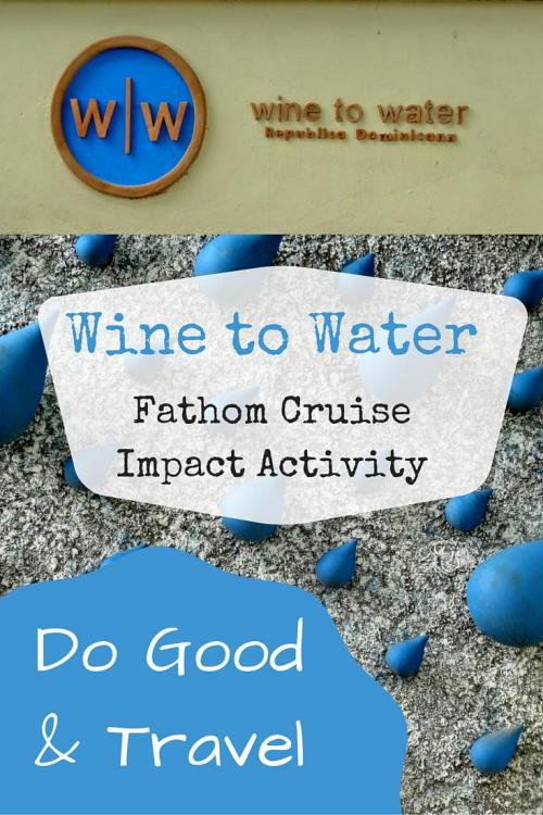 Fathom Cruise - Water filtration impact activity: Wine to Water