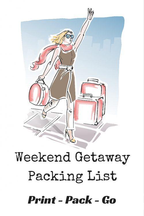 Travel Packing List - Weekend Getaway