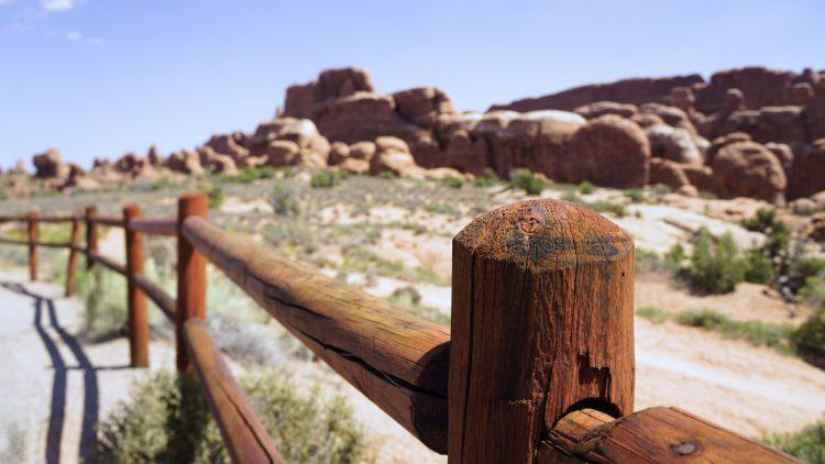 Fence at Arches National Park Utah National Park