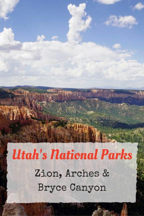Utah's National Parks Zion Arches Bryce Canyon