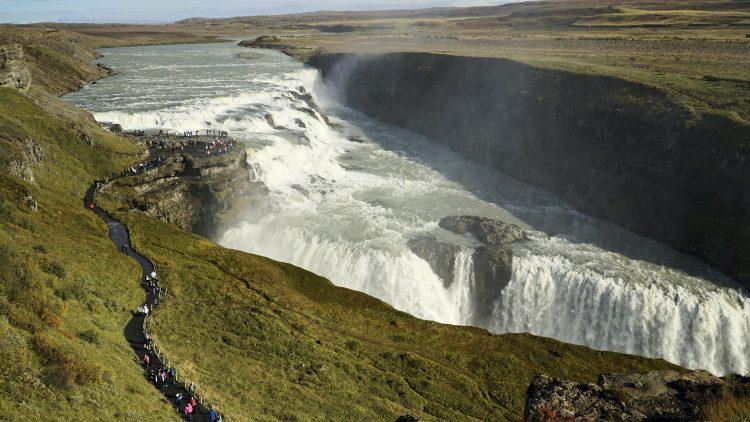 Golden Circle Tour Iceland: Gullfoss Waterfall